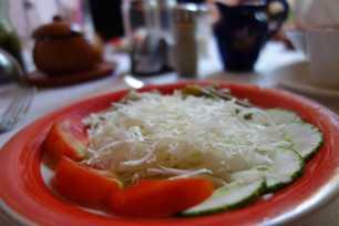Entrée salade de chou