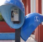 Cuba cabine téléphone