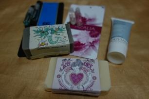 Savon artisanale, échantillon de parfum et crème Cuba 2015