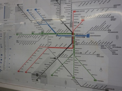 Suède carte métro