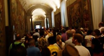 Vatican visite bondée